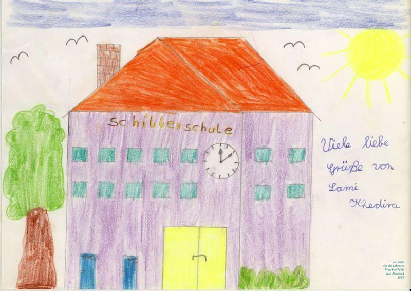 die Schillerschule - 1995 gemalt von Sami